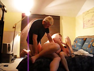 Girl wanking multiple cocks facial